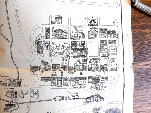 Hand-drawn map of the Mall