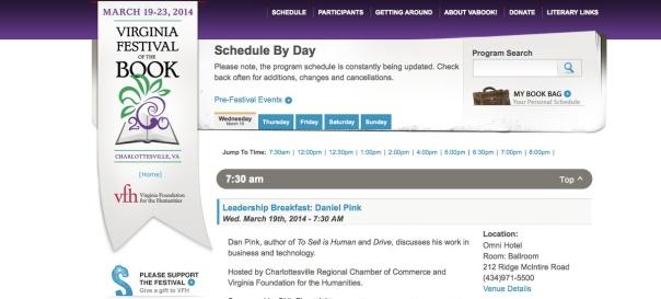 Book fest schedule