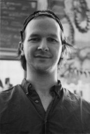 Spencer Lathrop, at Spencer's 206, on East Market Street. August 1994.
