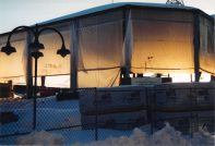 The Ice Park, under construction, round about 1995.